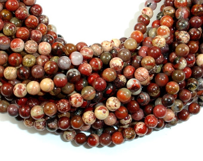 Silver Leaf Jasper Beads, 4 mm(4.4 mm) Round Beads, 15.5 Inch, Full strand, Approx 95 beads, Hole 1 mm, A+ quality (406054004)