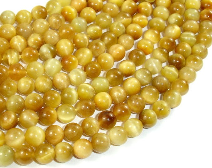 Golden Tiger Eye, 6mm(6.6mm) Round Beads, 15.5 Inch, Full strand, Approx 60 beads, Hole 1 mm (426054031)