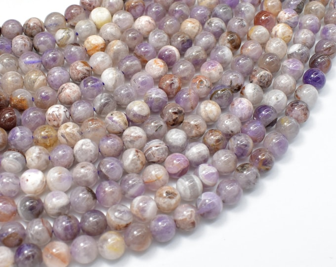 Amethyst, Dog Tooth Amethyst, 6mm(6.4mm) Round Beads, 15.5 Inch, Full strand, Approx 64 beads, Hole 0.8mm (115054056)