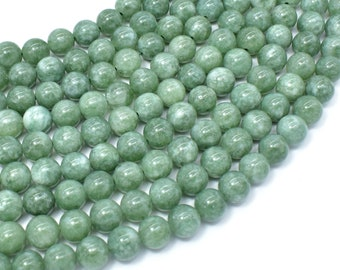 Malaysia Jade Beads- Burma Color, 8mm (8.5mm) Round Beads, 15 Inch, Full strand, Approx 46 beads, Hole 1mm, A quality(211054180)