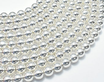 AA Quality Faceted Hematite Round Beads 8 mm 49 beads Full Strand 16