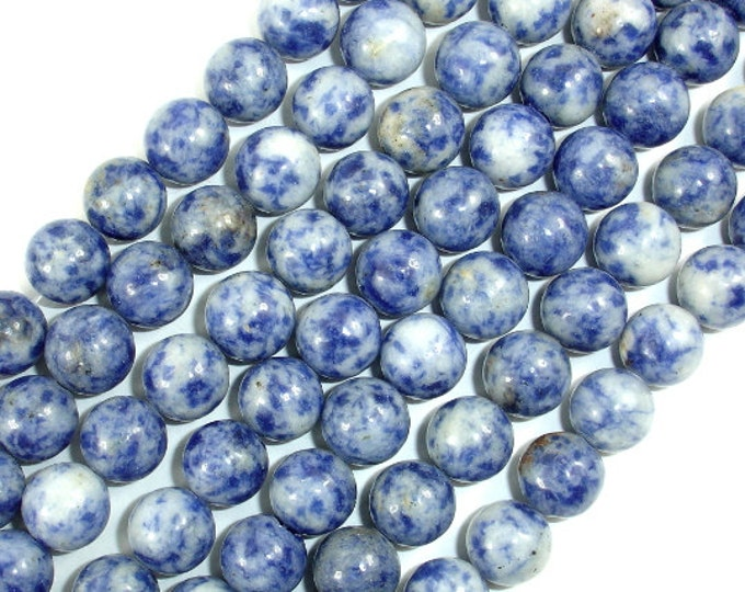 Blue Spot Jasper Beads, Round, 10 mm ( 10.5 mm), 15.5 Inch, Full strand, Approx 38 beads, Hole 1 mm (153054004)