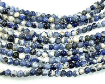 Sodalite Beads, Round, 4mm(4.5mm), 15.5 Inch, Full strand, Approx 90 beads, Hole 0.8 mm(411054010)