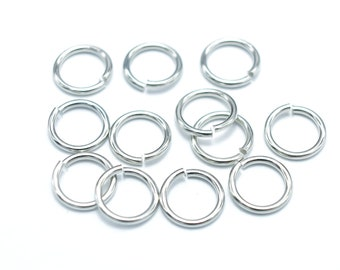 300pcs 6mm Open Jump Ring, 0.8mm (20gauge), Silver Plated (006862002)