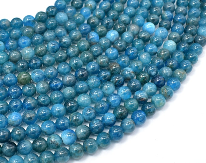 Apatite Beads, 6mm Round Beads, 16 Inch, Full strand, Approx 70 beads, Hole 0.8mm (120054012)