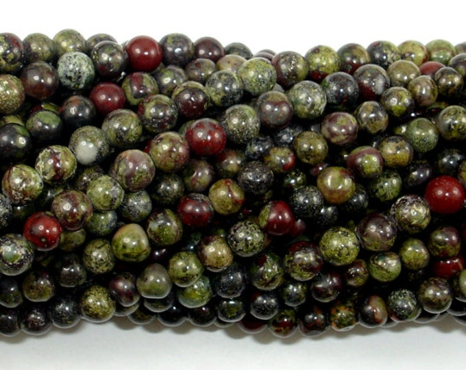 Dragon Blood Jasper Beads, 4mm (4.5 mm) Round Beads, 15.5 Inch, Full strand, Approx 90 beads, Hole 0.8 mm (495054006)