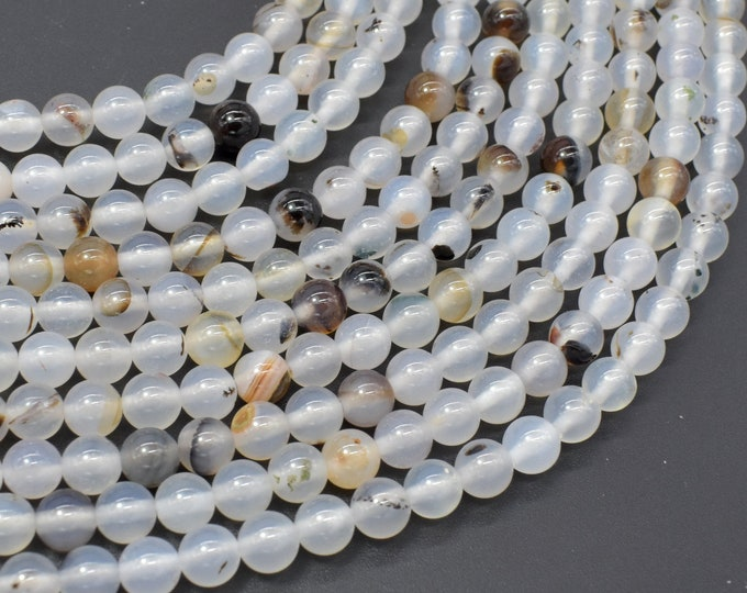 Agate Beads, 6mm (6.3mm) Round Beads, 14.5 Inch, Full strand, Approx 60 beads, Hole 1mm (122054286)