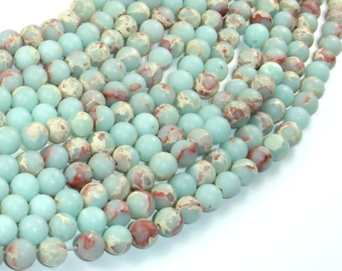 Matte Impression Jasper, 6mm(6.5mm) Round Beads, 14.5 Inch, Full strand, Approx 60 beads, Hole 1mm (281054036)