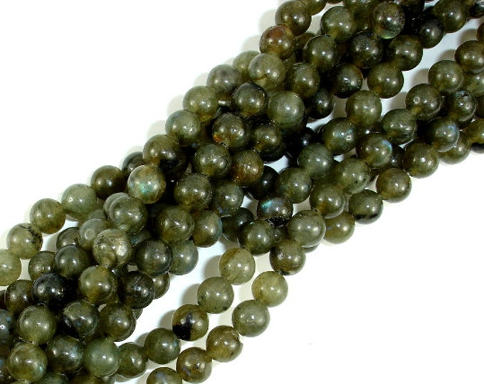 Labradorite Beads, 6mm(6.3mm) Round Beads, 15.5 Inch, Full strand, Approx 63 beads, Hole 1mm (295054013)