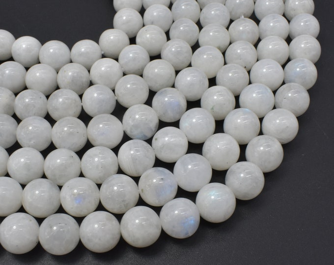 Moonstone-Rainbow Beads, 10mm(10.5mm) Round Beads, 15.5 Inch, Full strand, Approx 39 beads, Hole 1mm (321054037)