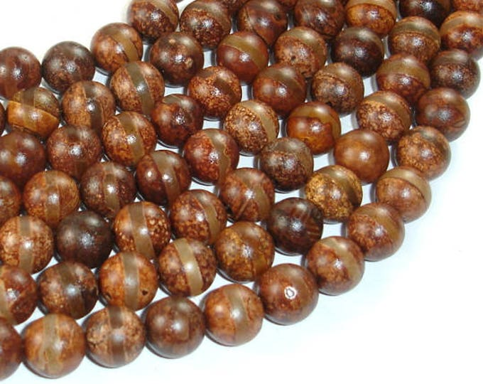 Tibetan Agate, 10mm(10.5mm) Round Beads, 15.5 Inch, Full strand, Approx 38 beads, Hole 1.2mm (122054279)