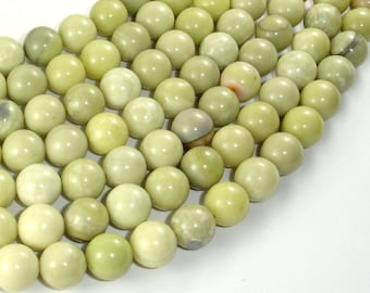Butter Jade, 10mm Round Beads, 16 Inch, Full strand, Approx 400 beads, Hole 1mm, A quality (176054003)