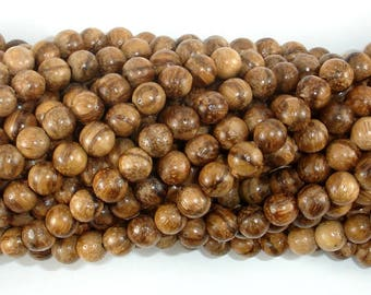 Aqarwood Beads, 6mm(6.3mm) Round Beads, 26 Inch, Full strand, Approx 108 Beads, Mala Beads (011742001)