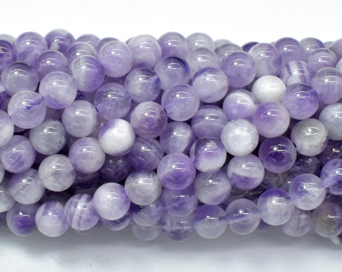 Amethyst, 6 mm(6.5mm) Round Beads, 15.5 Inch, Full strand, Approx 62-65 beads, Hole 1mm  (115054013)