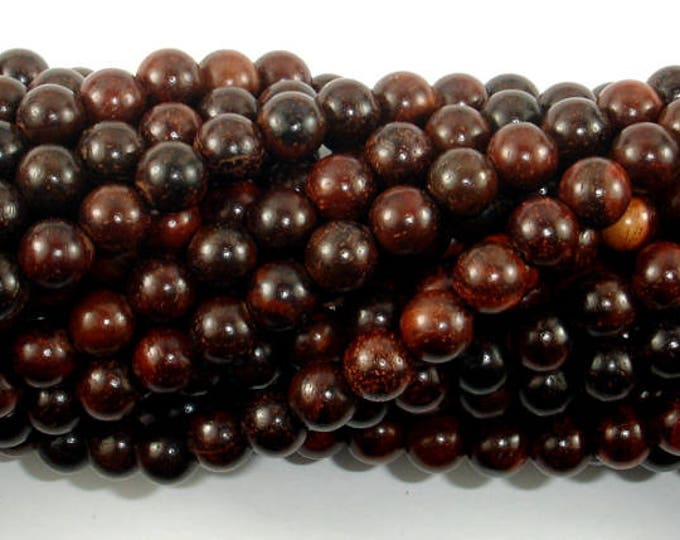 Rosewood Beads, 6mm(6.3mm) Round Beads, 26 Inch, Full strand, Approx 108 Beads, Mala Beads (011737004)