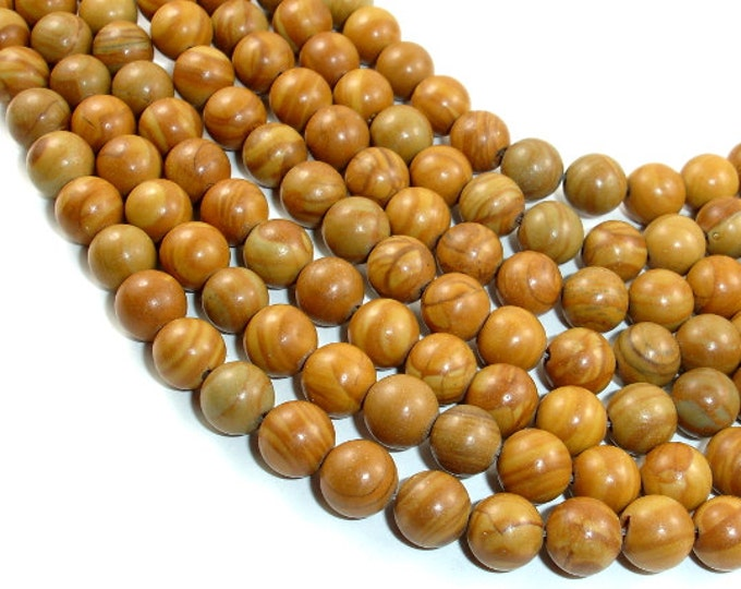 Wood Jasper Beads, Round, 8 mm, 15.5 Inch, Full strand, Approx 47 beads, Hole 1 mm, A quality (437054001)