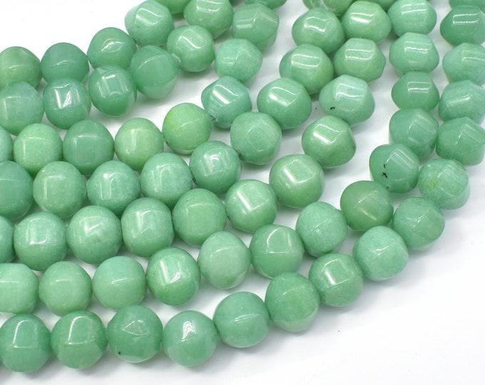 Jade Beads-Green, 10x10mm Pumpkin, Lantern Shape Beads, 15.5 Inch, Full strand, Approx 40 beads, Hole 1mm (211077001)