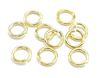 200pcs 8mm Open Jump Ring 1.15mm (17gauge), Gold Plated (006862006)