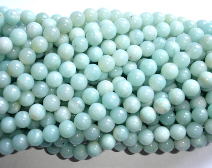 Amazonite Beads, Round, 8mm(8.3mm), 15.5 Inch, Full strand, Approx 46-49 beads, Full strand, Hole 1mm (111054003)