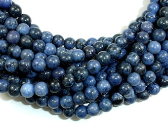 Dumortierite, 6mm (6.5mm) Round Beads, 16 Inch, Full strand, Approx 62 beads, Hole 1 mm, A qiality (203054003)