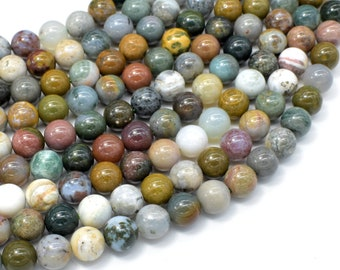 Ocean Jasper Beads, Round, 8mm (8.4mm), 15.5 Inch, Full strand, Approx 49 beads, Hole 1 mm (330054012)