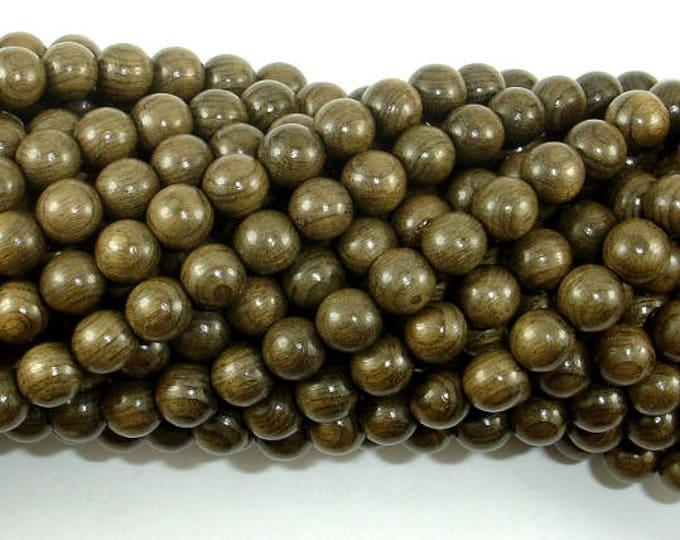 Green Silkwood Beads, 6mm(6.2mm) Round Beads, 26 Inch, Full strand, Approx 108 Beads, Mala Beads (011746002)