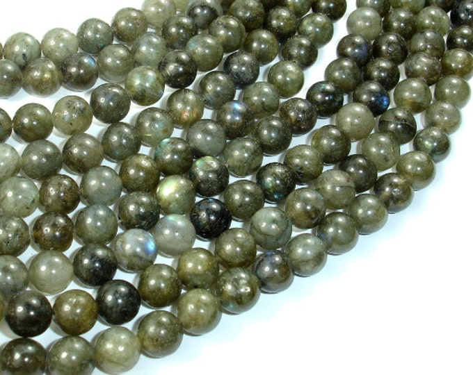 Labradorite Beads, Round, 8mm (8.5mm), 15.5 Inch, Full strand, Approx 47 beads, Hole 1mm (295054026)
