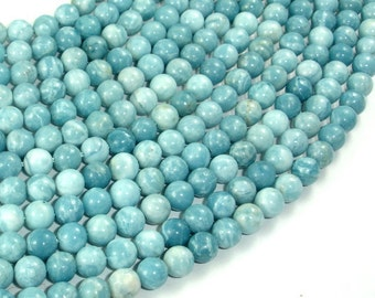 Larimar Quartz, 6mm(6.3mm) Round Beads, 15.5 Inch, Full strand, Approx 64 beads, Hole 1mm (301054001)