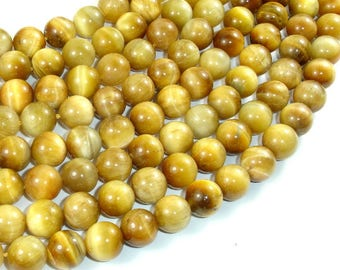 Golden Tiger Eye, 10mm Round Beads, 15.5 Inch, Full strand, Approx 39 beads, Hole 1 mm (426054032)
