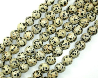 Dalmation Jasper Beads, Round, 10mm, 15 Inch, Full strand, Approx 37 beads, Hole 1 mm (204054004)