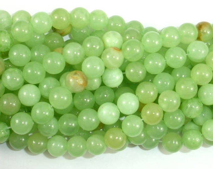 Afghan Jade Beads, Round, 8mm, 16 Inch, Full strand, Approx 52 beads, Hole 1mm (287054001)