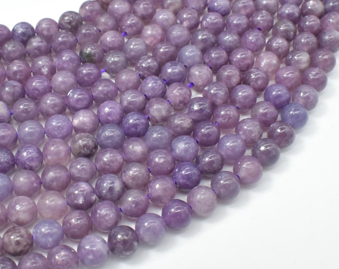 Lepidolite Beads, 6mm(6.4mm) Round Beads, 15.5 Inch, Full strand, Approx 63 beads, Hole 1mm (297054003)