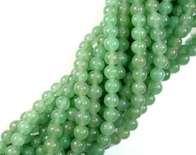 Green Aventurine Beads, Round, 6mm(6.3mm), 15.5 Inch, Full strand, Approx 64 beads, Hole 1 mm, A quality (249054002)