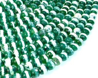 Tibetan Agate Beads, Faceted Round, 6mm, 15 Inch, Full strand, Approx 62 beads, Hole 1 mm (122025094)