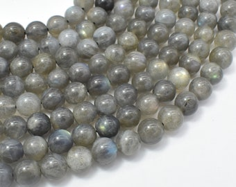 Labradorite, 8mm Round Beads, 15.5 Inch, Full strand, Approx 48 beads, Hole 1mm (295054009)