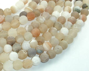Druzy Agate Beads, Geode Beads, Approx 8mm(8.5mm) Round Beads, 15.5 Inch, Full strand, Approx 48 beads, Hole 1 mm (122054245)