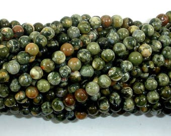Rhyolite Beads, 4mm(4.6mm) Round Beads, 15.5 Inch, Full strand, Approx 88 Beads, Hole 0.8mm, A quality (387054013)