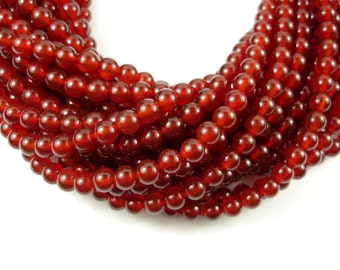 Carnelian Beads, Round, 6mm (6.3 mm), 15.5 Inch, Full strand, Approx 62 beads, Hole 1 mm, A quality (182054002)