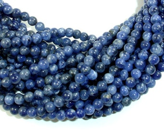 Sodalite Beads, 4mm Round Beads, 16 Inch, Full strand, Approx 100 beads, Hole 0.8mm, A quality (411054007)