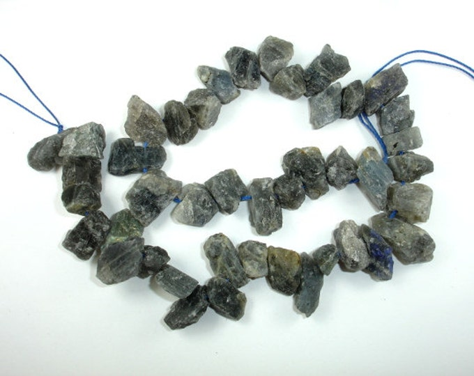 Labradorite Beads, raw rough, (10-13)x(12-20)mm Top Drilled Nugget Beads, 16 Inch, Full strand, Approx 40-43 beads, Hole 0.8mm (295047003)