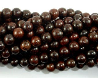 Rosewood Beads, 8mm Round Beads, 33 Inch, Full strand, Approx 108 Beads, Mala Beads (011737003)