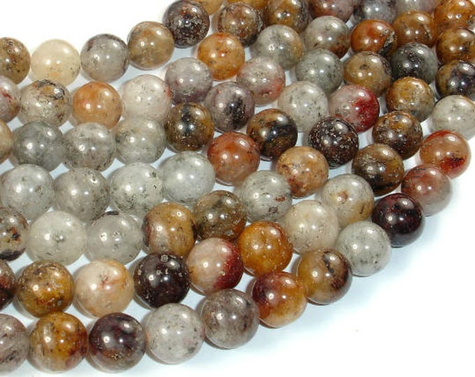 Lodolite Quartz, 10mm(10.3mm) Round Beads, 16 Inch, Full strand, Approx 40 beads, Hole 1mm (178054004)