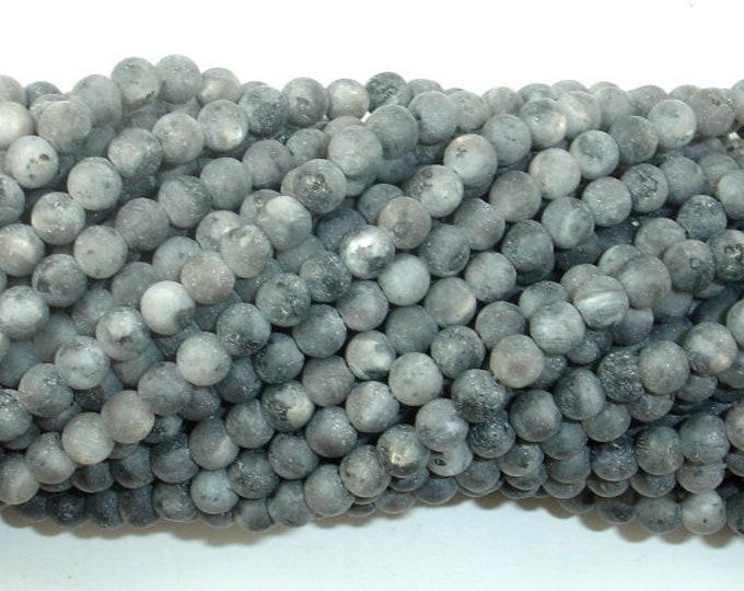 Matte Black Labradorite Beads, Matte Larvikite, 4mm (4.6mm) Round Beads, 15 Inch, Full strand, Approx 88 beads, Hole 0.8mm (137054010)