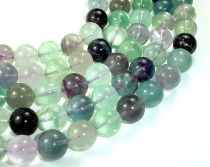 Fluorite Beads, Rainbow Fluorite, Round, 14 mm, 16 Inch, Full strand, Approx 29 beads, Hole 1 mm, A+ quality (224054014)