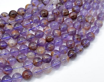 Super Seven Beads, Cacoxenite Amethyst, 8mm Round Beads, 15.5 Inch, Full strand, Approx 50 beads, Hole 1mm (460054001)