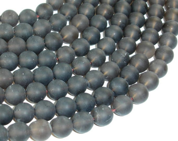 Matte Smoky Quartz Beads, 10mm Round Beads, 16 Inch, Full strand, Approx 41 beads, Hole 1mm (408054012)