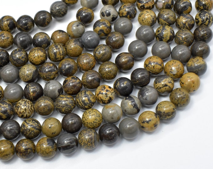 Artistic Jasper Beads, 8mm(8.4mm) Round Beads, 15.5 Inch, Full strand, Approx 49 beads, Hole 1mm, A quality (119054007)