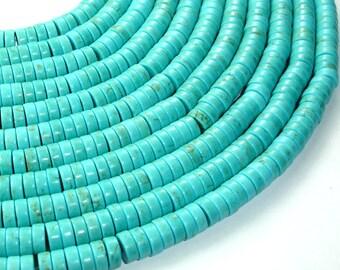 213041001 3 x 8mm Howlite Turquoise Beads Heishi 16 Inch,