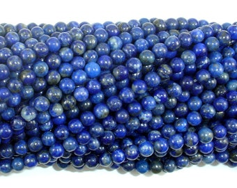 Natural Lapis Lazuli, 4mm (4.5mm) Round Beads, 15.5 Inch, Full strand, Approx 93 beads, Hole 0.8mm (298054017)