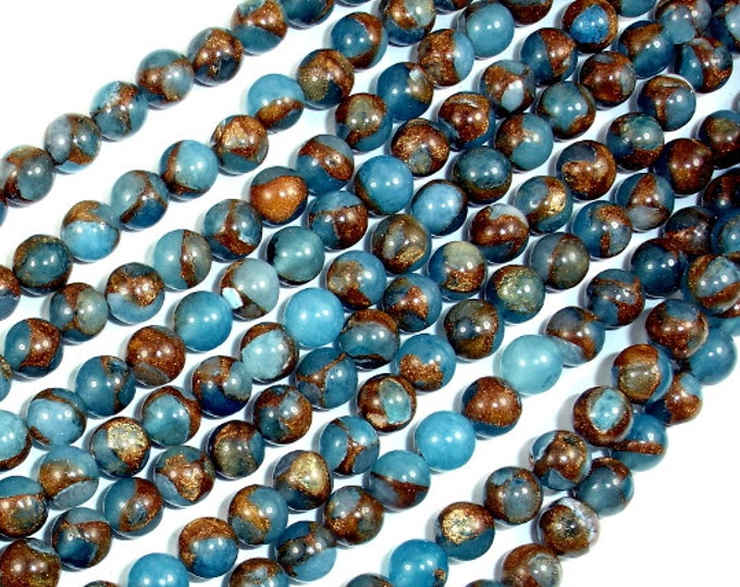 Mosaic Stone Beads, Round, 6mm(6.3mm) Beads, 15.5 Inch, Full strand, Approx 64 beads, Hole 1mm (327054011)